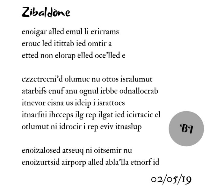 Zibaldone (al contrario)
